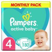 Pampers Active Baby Pleny 4 Maxi 8-14kg 180 ks