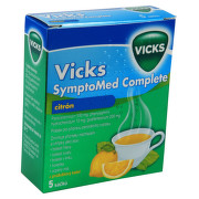 VICKS SYMPTOMED COMPLETE CITRÓN 500MG/10MG/200MG perorální PLV SOL SCC 5