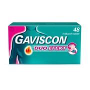 GAVISCON DUO EFEKT 250MG/106,5MG/187,5MG žvýkací tableta 48