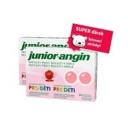 Junior-angin pro děti pastilky 2x24ks+dárek