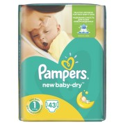 PAMPERS New Baby 1 Newborn 43ks