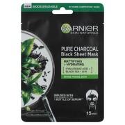 Garnier čistící hydratační textilní maska z černého čaje s obsahem aktivního uhlí 32g