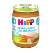HiPP BABY BIO Mrkev s rýží a telecím masem 190g