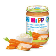 HiPP JUNIOR BIO Rýže s mrkví a krůtím masem 220g
