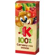 KUBÍK 100% červený mix ovoce 0.2l