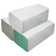 Ručníky papír.sklád. ZZ bílé 1vrstvé 2x250ks