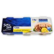 Tuňák ve slunečnic. oleji s citrónem 3x80g Sun&Sea