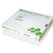 MEPILEX BORDER AG 7X7,5 CM, 5 KS, ANTIMIKROBIÁLNÍ PĚNOVÉ SAMOLEPÍCÍ