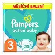 Pampers Active Baby Pleny 3 Midi 5-9kg 208 ks
