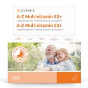 LIVSANE A-Z Multivitamín komplex 50+ tablety 60 ks