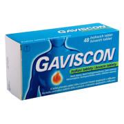 GAVISCON 250MG/133,5MG/80MG žvýkací tableta 48