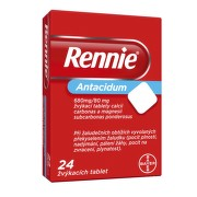 RENNIE 680MG/80MG žvýkací tableta 24