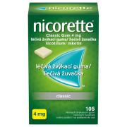 NICORETTE CLASSIC GUM 4MG léčivé žvýkací gumy 105