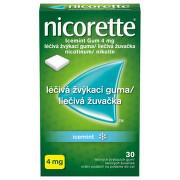 NICORETTE ICEMINT GUM 4MG léčivé žvýkací gumy 30