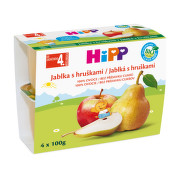 HiPP 100% OVOCE BIO Jablka s hrušk. 4x100g