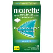 Nicorette® Icemint Gum 4 mg léčivá žvýkací guma, 105 žvýkaček