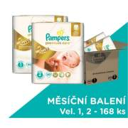 Pampers Premium Care POME Box 168 (80+88) (MIX vel. 1 a 2)
