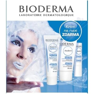 BIODERMA Atoderm Nutr.40ml-Krém ruce50ml-Tyč.rty4g Nakupte 3 produkty řady Bioderma Atoderm a zaplaťte pouze za 2. Akce platí na e-shopu do 31. 10. 2017 nebo do vyprodání zásob.