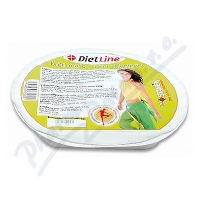 DietLine Krůtí maso s jarní zeleninou 300g