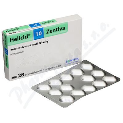 HELICID 10 ZENTIVA 10MG enterosolventní tvrdé tobolky 28