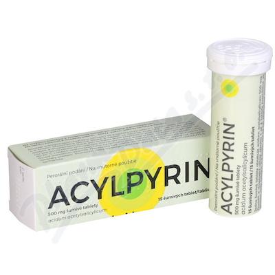 ACYLPYRIN 500 MG ŠUMIVÉ TABLETY perorální šumivá tableta 15X500MG