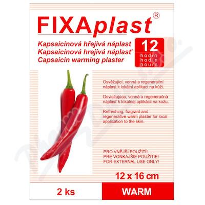 Náplast kapsaicinová FIXAplast WARM 12 x 16cm 2ks