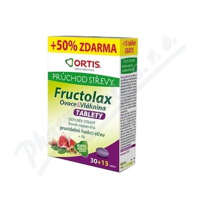 Fructolax Ovoce&Vláknina TABLETY tbl.30+15