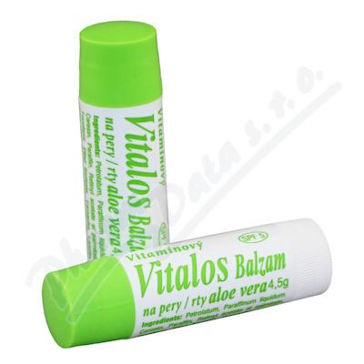 Vitalos Balzám na rty vitamínový Aloe Vera 4,5 g