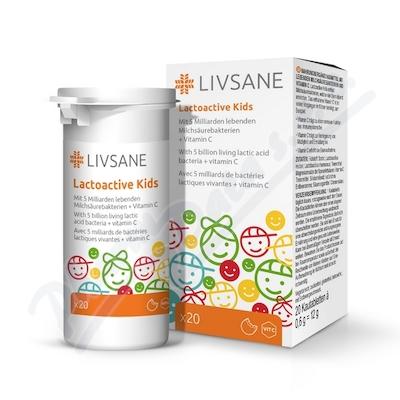 LIVSANE Laktoaktivní tablety pro děti 20ks