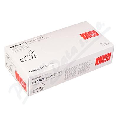 Rukavice latexové Santex powdered L 100ks 7d4373f49a