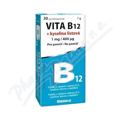 Vita B12 + kyselina listová 1 mg-400mcg 30 tablet