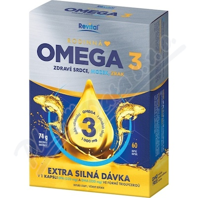 Revital Rodinná Omega 3, 60 kapslí