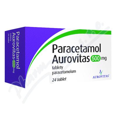 PARACETAMOL AUROVITAS 500MG neobalené tablety 24 I