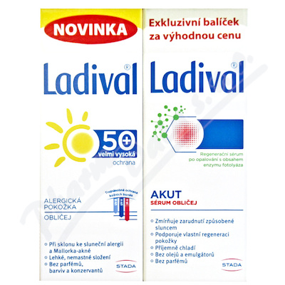 LADIVAL Obličej DUO Akut 50ml Alerg OF50 gel 50ml