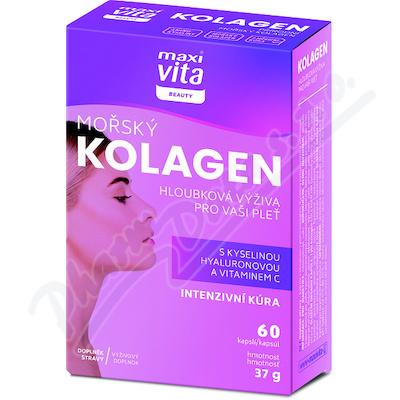 MaxiVita Beauty Mořský kolagen+kys.hyalur. cps.60