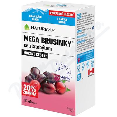 NatureVia Mega brusinky cps.60