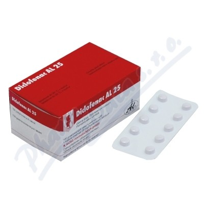DICLOFENAC AL 25 25MG enterosolventní tableta 100