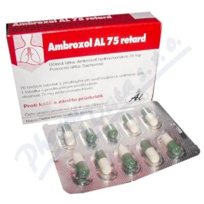 AMBROXOL AL 75 RETARD 75MG tvrdé tobolky s prodlouženým uvolňováním 20
