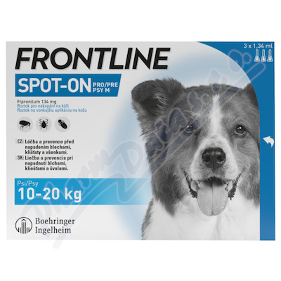 Frontline Spot On Dog 10-20kg pipeta 3x1.34ml