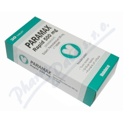 PARAMAX RAPID 500 MG perorální neobalené tablety 30X500MG
