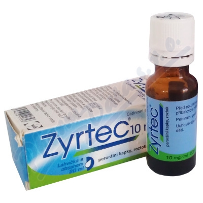 ZYRTEC 10MG/ML perorální GTT SOL 20ML
