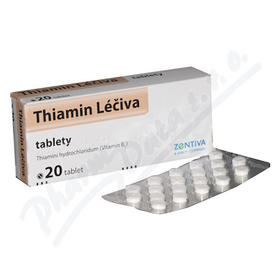 THIAMIN LÉČIVA 50MG neobalené tablety 20