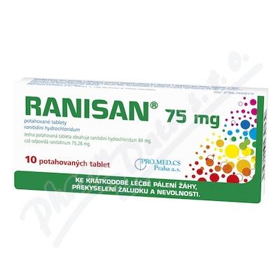 RANISAN 75 MG perorální potahované tablety 10X75MG